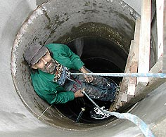 work on the well